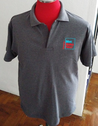 Grey collar t--shirts of Penang Mini Maker Faire (available in XS to XL)